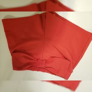 Red bow shorts